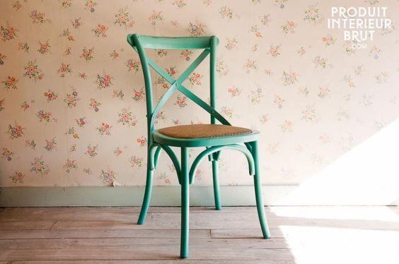 Fel gekleurde Turquoise Pampelune stoel, leuk voor in de woonkamer ...
