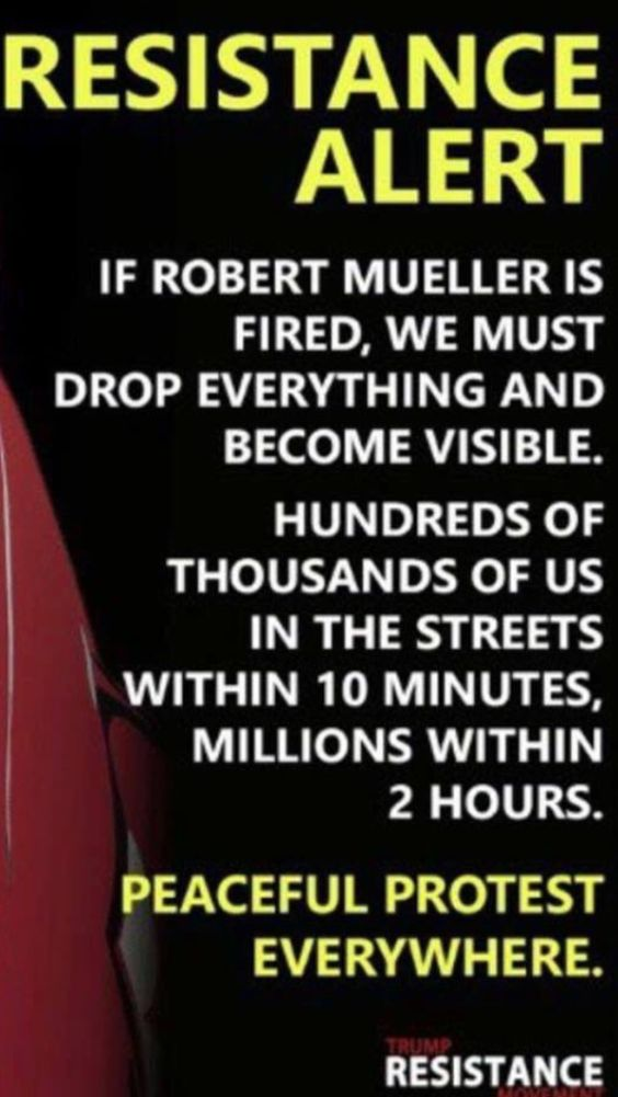 PAY ATTENTION, tRUMP/REPUBLICANS ARE TRYING TO SHUT THE MUELLER INVESTIGATION DOWN! WE MUST NOT LET THAT HAPPEN!! WE WANT THE **TRUTH!!** STAY WOKE & RESIST!!