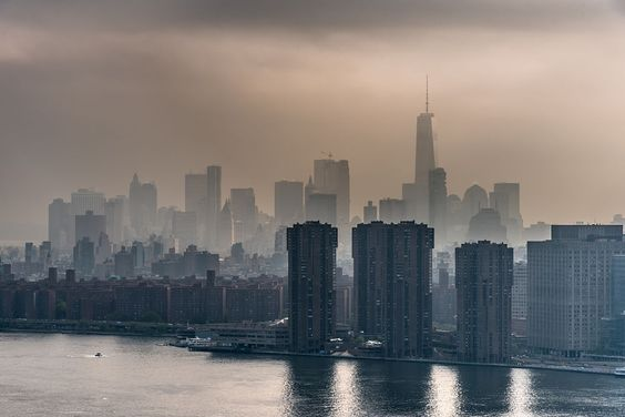 Lower Manhattan skyline on a foggy afternoon today. by Javan Ng on 500px