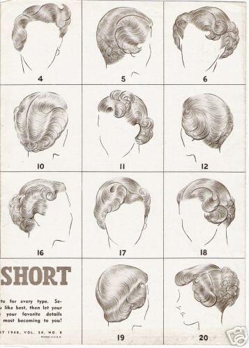 Guia vintage de penteados para cabelos curtos