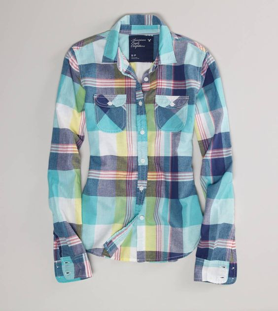 Plaid Western Shirt from American Eagle Outfitters
