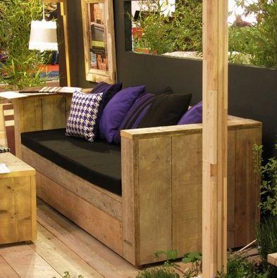 fauteuil en bois de palette maison cour terrasse pinterest. Black Bedroom Furniture Sets. Home Design Ideas