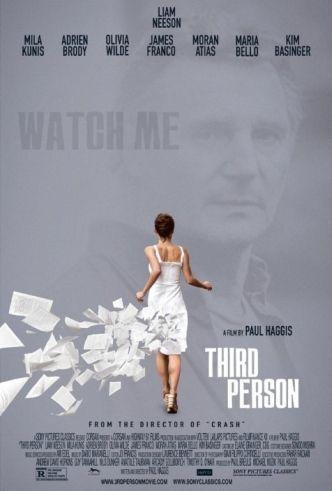 Third Person - Three interlocking love stories involving three couples in three cities: Rome, Paris, and New York.  - Rating: R