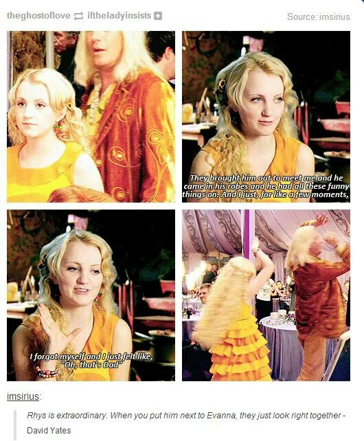 luna dating harrys dad He also told me about my dad a little luna lovegood was sitting and laughing with the very people that she was supposed to insult the previous day.