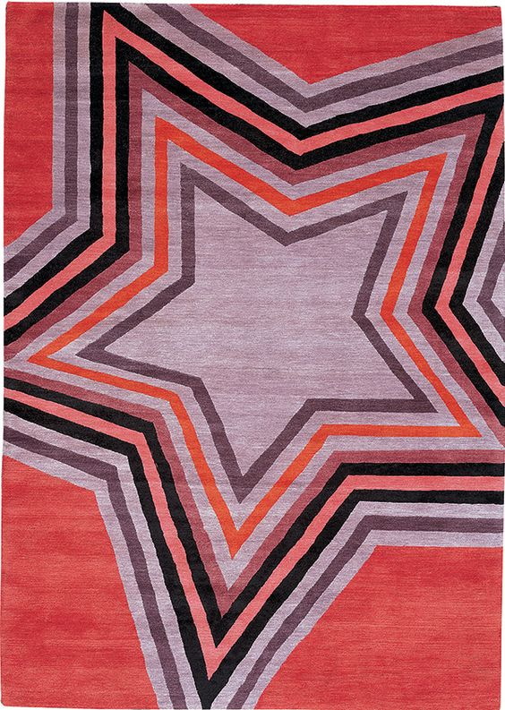 Star Red By Paul Smith For The Rug Company Pantone 17