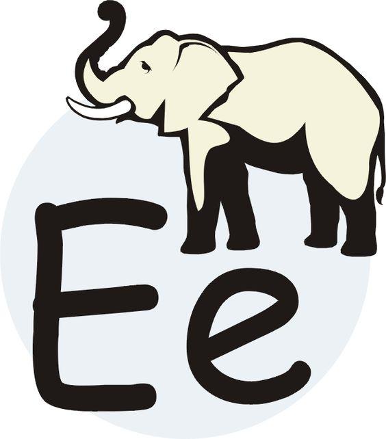Vocal E Mayscula Minscula Elefante Se Escribe Con