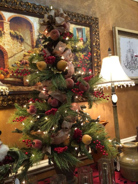 Beaded fruit flat back Christmas tree
