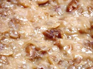coconut pecan frosting recipe for german chocolate cake.  Yum