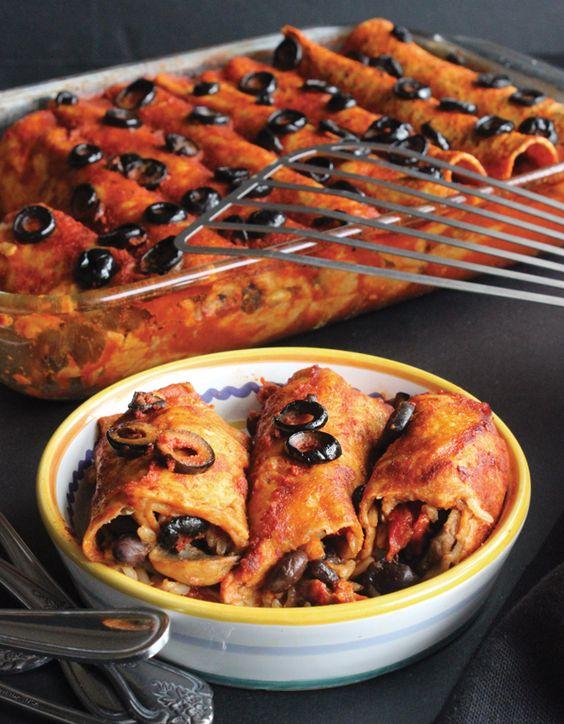 Freezer-Friendly Vegetable Enchiladas from The Make Ahead Vegan Cookbook