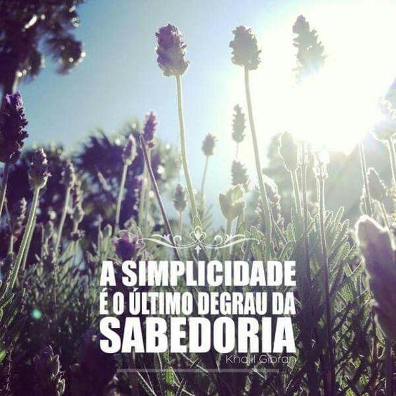 Simplicidade é Sabedoria