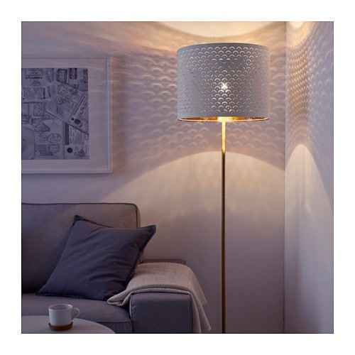 Kupit Nimo Abazhur Belyj Zheltaya Med 44 Sm Po Vygodnoj Cene V Internet Magazine Ikea Stehlampe Weiss Moderne Lampen Lampenschirm