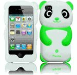 Panda Silicone Jelly Skin Case Cover for Apple iPhone 4 4S - Green