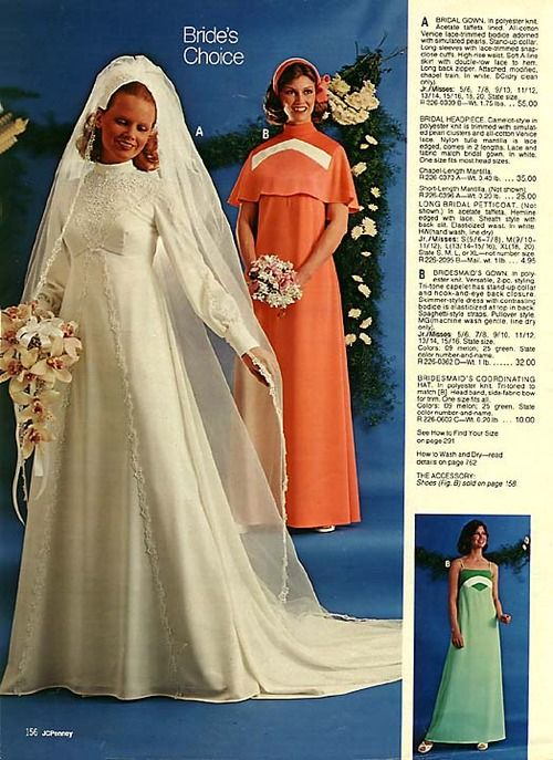 1976 J.C.Pennys-similar to my Wedding dress BUT mine didn't come from JC Penney!!!!!!!!