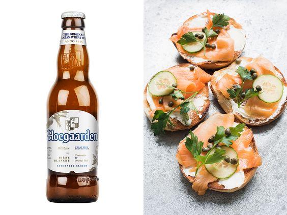 món ăn khi uống bia hoegaarden white