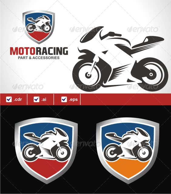 Motoracing fonts colors and logos for Motosport templates