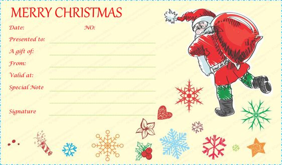 christmas gift voucher template certificate templates download - christmas gift vouchers templates