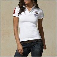 Ralph Lauren Refined Logo White Fashion Breathable Short Sleeved !$34.35