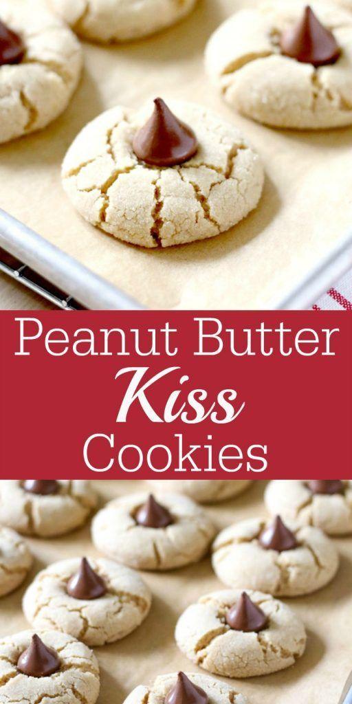 Peanut Butter Kiss Cookies #cookies #christmas #christmascookies