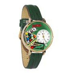 Billiards Fashion Watch in Gold (Large)W/ GREEN BAND
