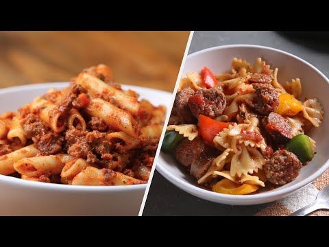 6 Unforgettable Red Sauce Pasta Recipes Tasty Youtube Pasta
