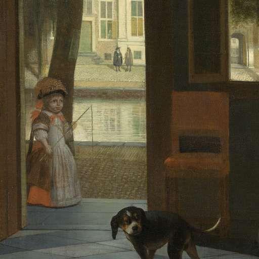 Het aanreiken van een brief in een voorhuis, Pieter de Hooch, 1670 - Pieter de Hooch - Artists - Explore the collection - Rijksmuseum