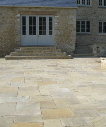 Riven Yorkstone paving and patio slabs