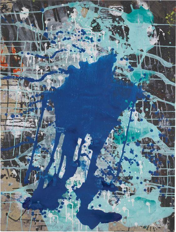 Schüttbild Blau/Grün   Sigmar Polke, Schüttbild Blau/Grün (1986)