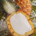 ANANAS RIPIENO~(PINEAPPLE)   Tropical pineapple sorbet in a natural pineapple shell.