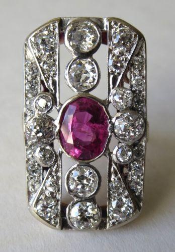 Fine-Art-Deco-Platinum-Yellow-Gold-Ruby-Diamond-Ring