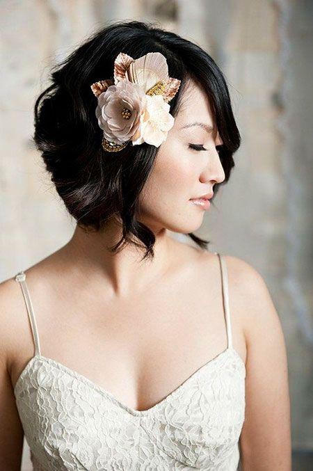 23 Bridal Hairstyles For Short Hair Short Wedding Hair Bridal