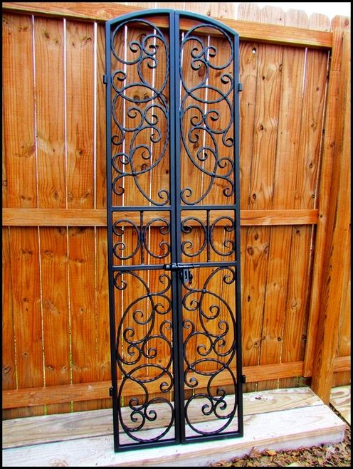 Bordeaux Wrought Iron Wine Cellar Double Door Gate Many Sizes To