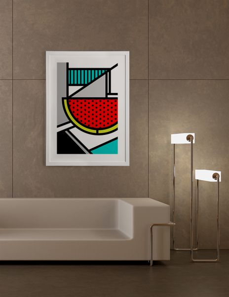 """Abstracts 101: Watermelon"", Exclusive Edition Fine Art Print by Mike Karolos - From 39.00€ - Curioos"