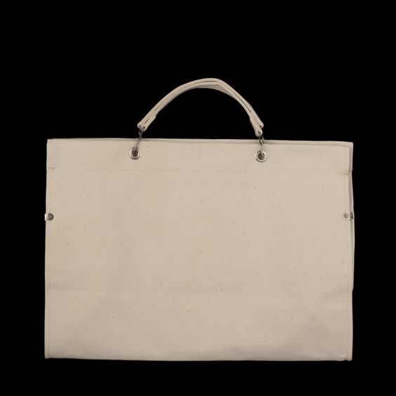 UNIONMADE - Anatomica - Large Canvas Marche Bag in Natural