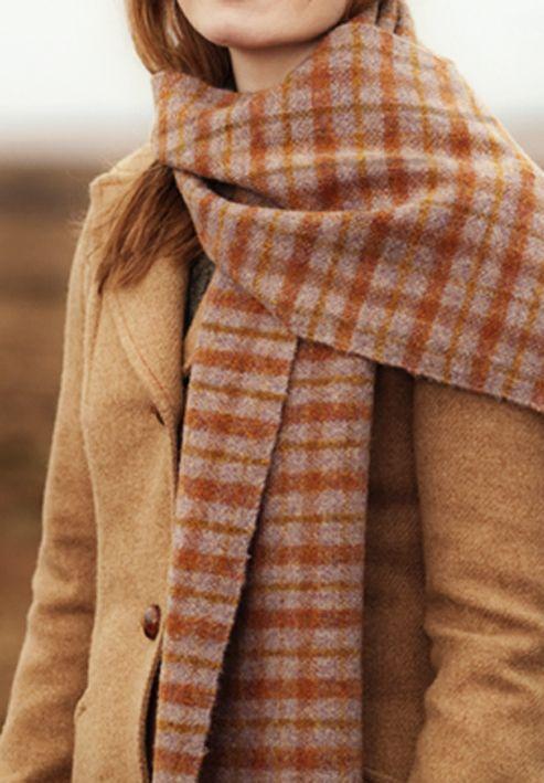 plaid, wool, fabric, design, caramel, autumn, colour, fashion, coat, scarf, fashion, style
