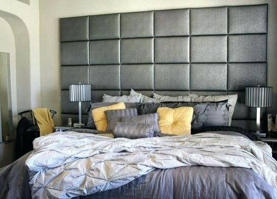 Wall Mounted Headboards For Super King Size Beds Lanzhome Com In 2020 Gray Upholstered Headboard Headboard Designs Bedroom Headboard