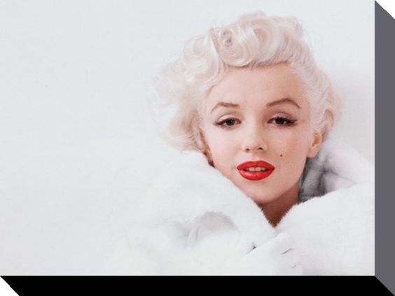 Marilyn Monroe - White - Official Canvas Print