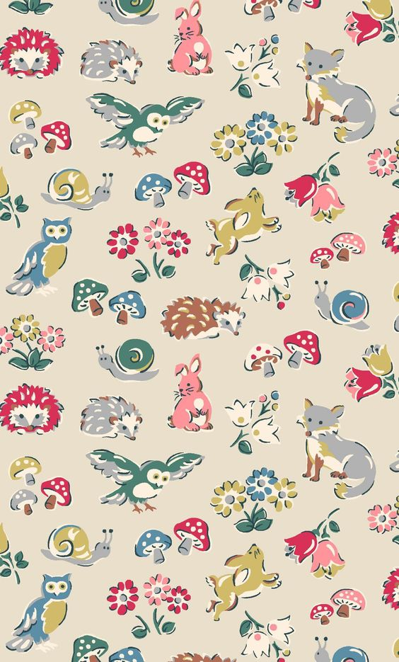 Forest Animals   Our enchanted English forest is home to a whole host of friendly woodland creatures, drawn in a sweet sketchy style and joined by our classic tiny florals and mini mushrooms   Cath Kidston Autumn Winter 2016  