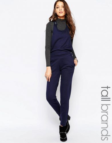 Noisy May Tall Jersey Relaxed Jumpsuit – Navy. Tall Women Clothing at PrettyLong.com