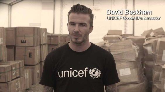 UNICEF Botschafter David Beckham unterstützt UNICEF und fordert mit uns das Ende der Gewalt in Syrien!