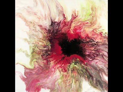 Blow Dryer Flower Fiasco Acrylic Pour Fluid Art Youtube Fluid