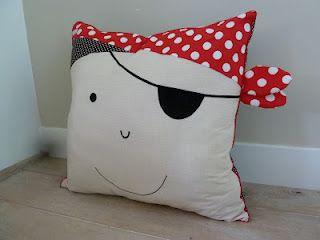 pirate pillow funny for kids DIY divertido cojin pirata para niños infantil piratenkussen