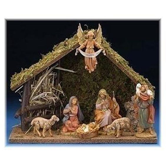 Collector S Edition 7 Piece Nativity Set With Italian Stable 5 Collection Christmas Nativity Set Nativity Set Fontanini Nativity
