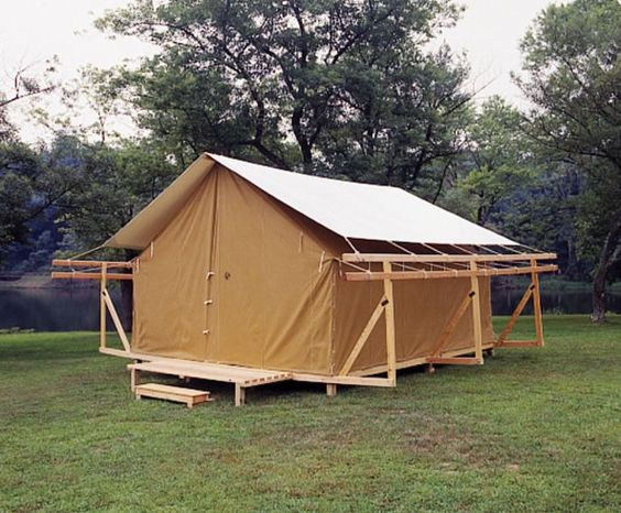 Permanent camp tents look at these great conversion tents for Permanent tent cabins