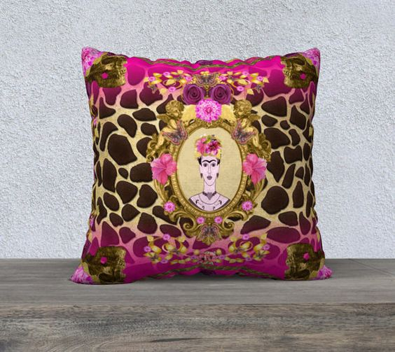 10% OFF Today Large Funky Frida Kahlo with Skulls by nantulov