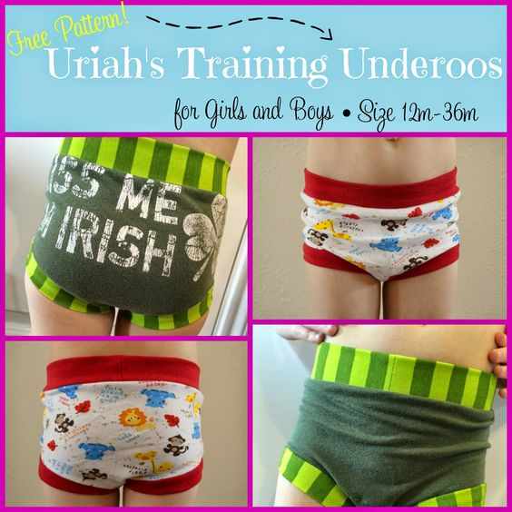 Free Pattern: Uriah's Training Underoos.   These were really fast to make