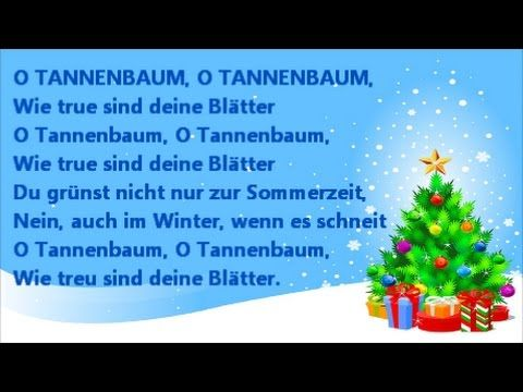 O Christmas Tree O Tannenbaum Acapella Carol Song Lyrics In English And German With Us A Traditional Christmas Songs Carol Songs Homemade Christmas Decorations