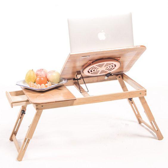 Ongebruikt Biger Size Vouwen Hout Laptop Tafel Slaapbank Kantoor Stand tafel LM-05