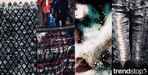 Fall Winter 2014-15, directional print inspiration, earth mineral, detail