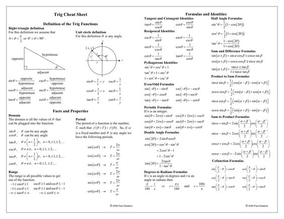 how to work out trigonometry period