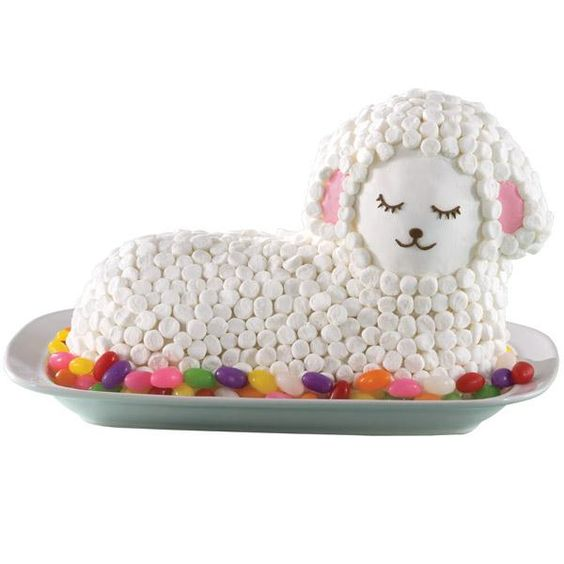 Fluffy Marshmallow Lamb Cake. Have the mold for this and tried making ...